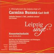 CD Cover - Carmina Burana - Live Gewandhaus Leipzig